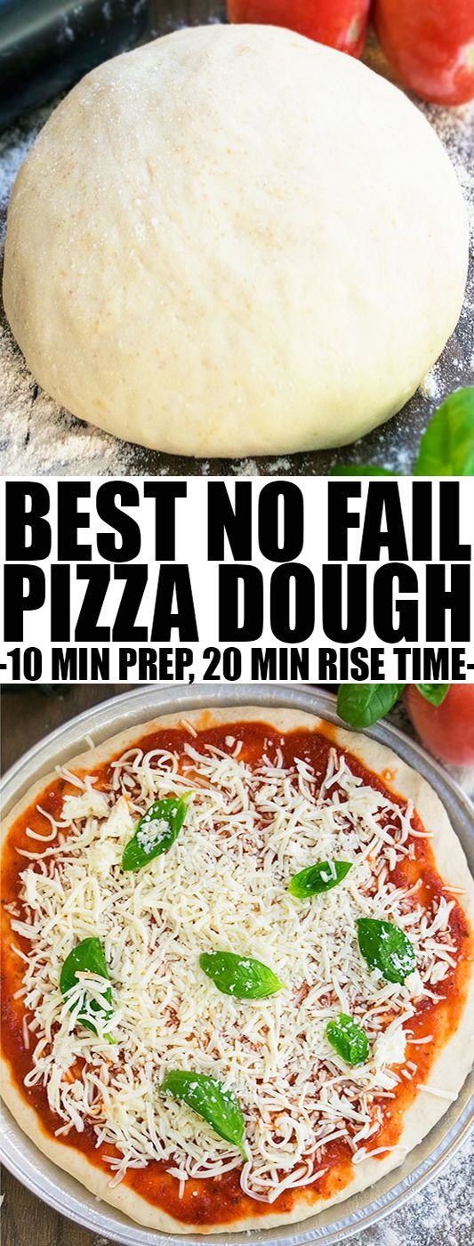 Healthy Pizza Dough Recipe Quick  Healthy Recipes Quick and easy HOMEMADE PIZZA DOUGH