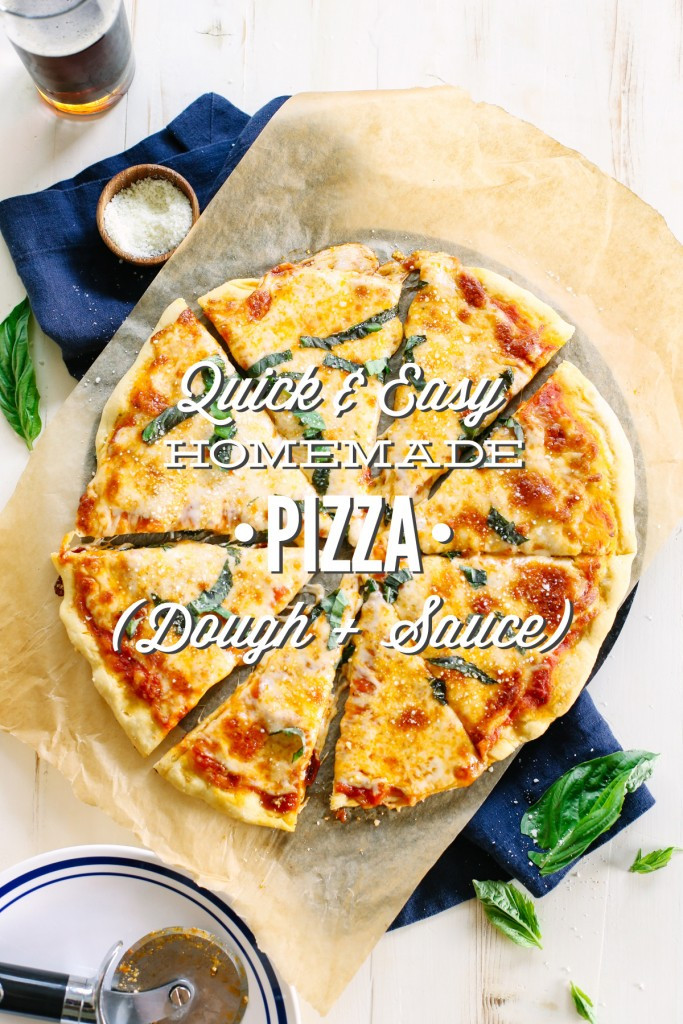 Healthy Pizza Dough Recipe Quick  Quick and Easy Homemade Pizza Dough and Sauce Live Simply