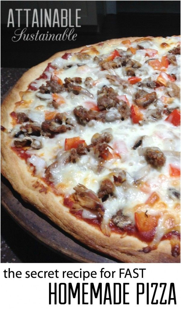 Healthy Pizza Dough Recipe Quick  18 Best images about Healthy Homemade Pizza on Pinterest