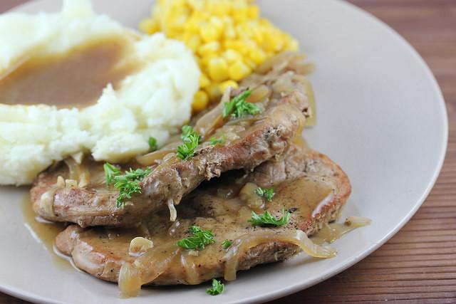 Healthy Pork Chop Slow Cooker Recipes  Slow Cooker Smothered Pork Chops Recipe