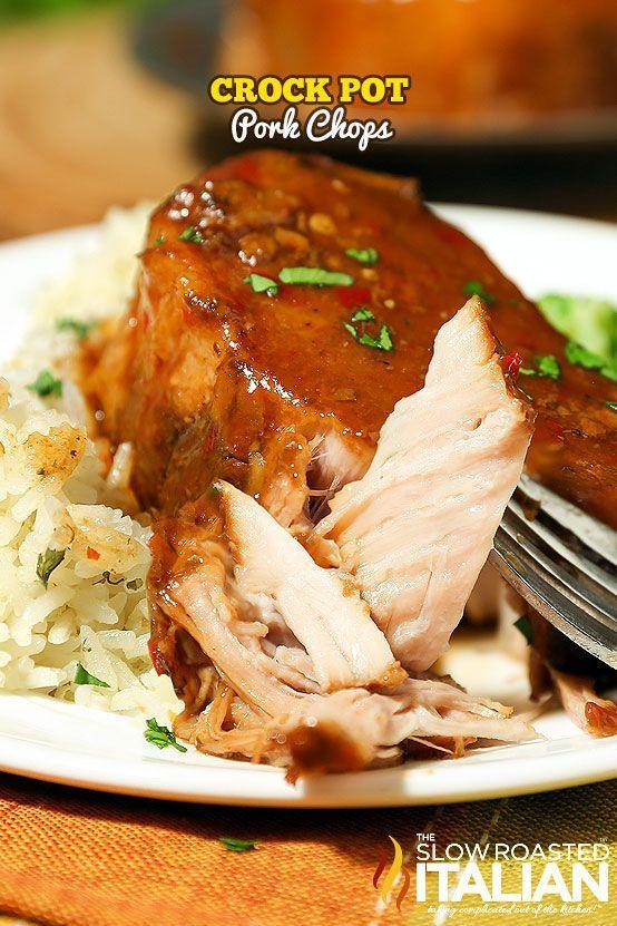 Healthy Pork Chop Slow Cooker Recipes  Crockpot Pork Chops are the easiest slow cooker recipe