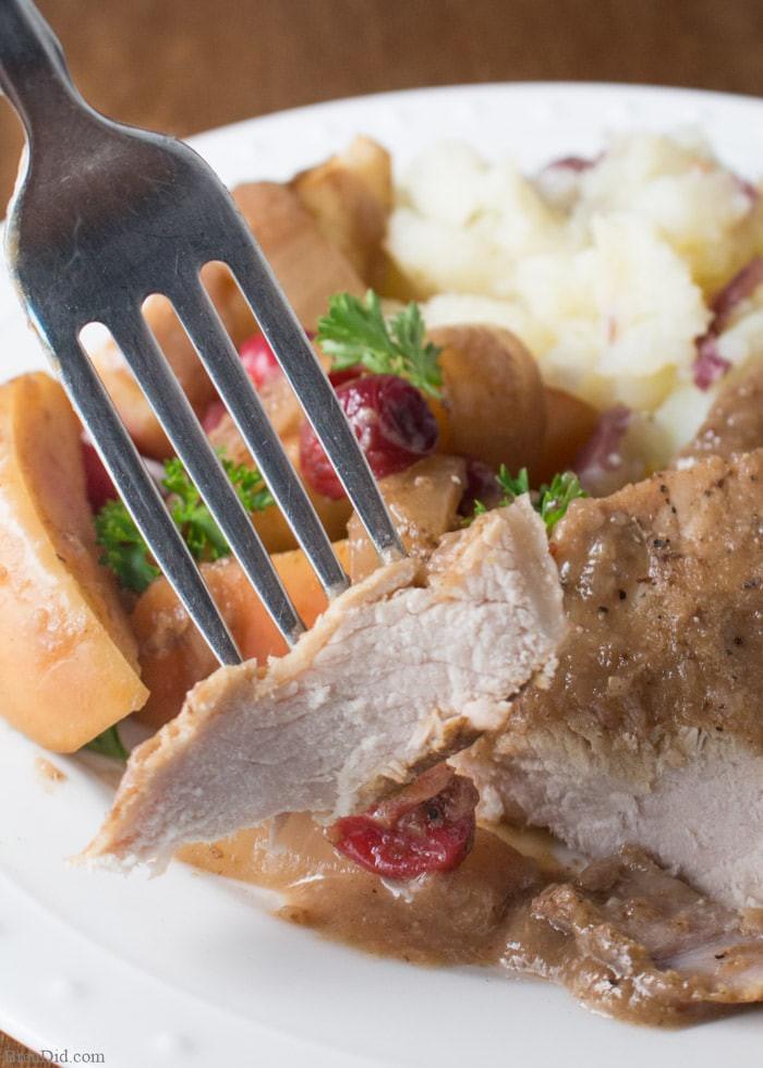Healthy Pork Chop Slow Cooker Recipes  Crock Pot Pork Chops with Cranberries and Apples Bren Did