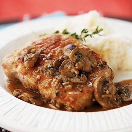 Healthy Pork Chops  Pork Chops Marsala Healthy Pork Chop Recipes Cooking Light