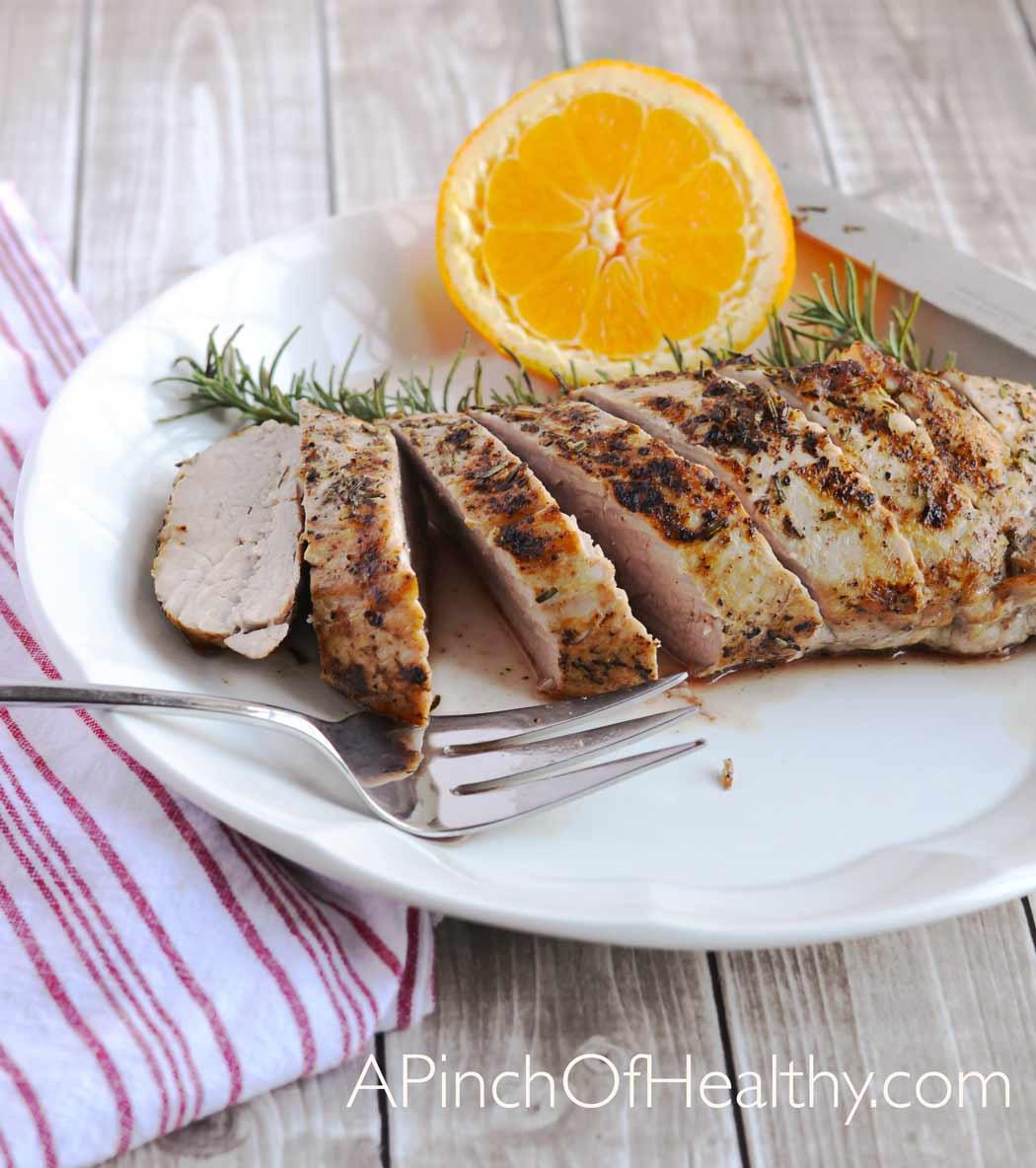Healthy Pork Tenderloin Recipes  Grilled Pork Tenderloin on the Stovetop A Pinch of Healthy
