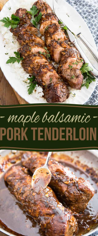 Healthy Pork Tenderloin Recipes  Maple Balsamic Pork Tenderloin • The Healthy Foo