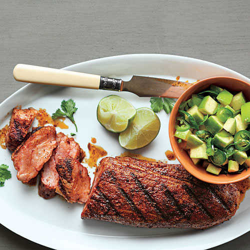 Healthy Pork Tenderloin Recipes  Spanish Pork with Apple Citrus Salsa Healthy Pork