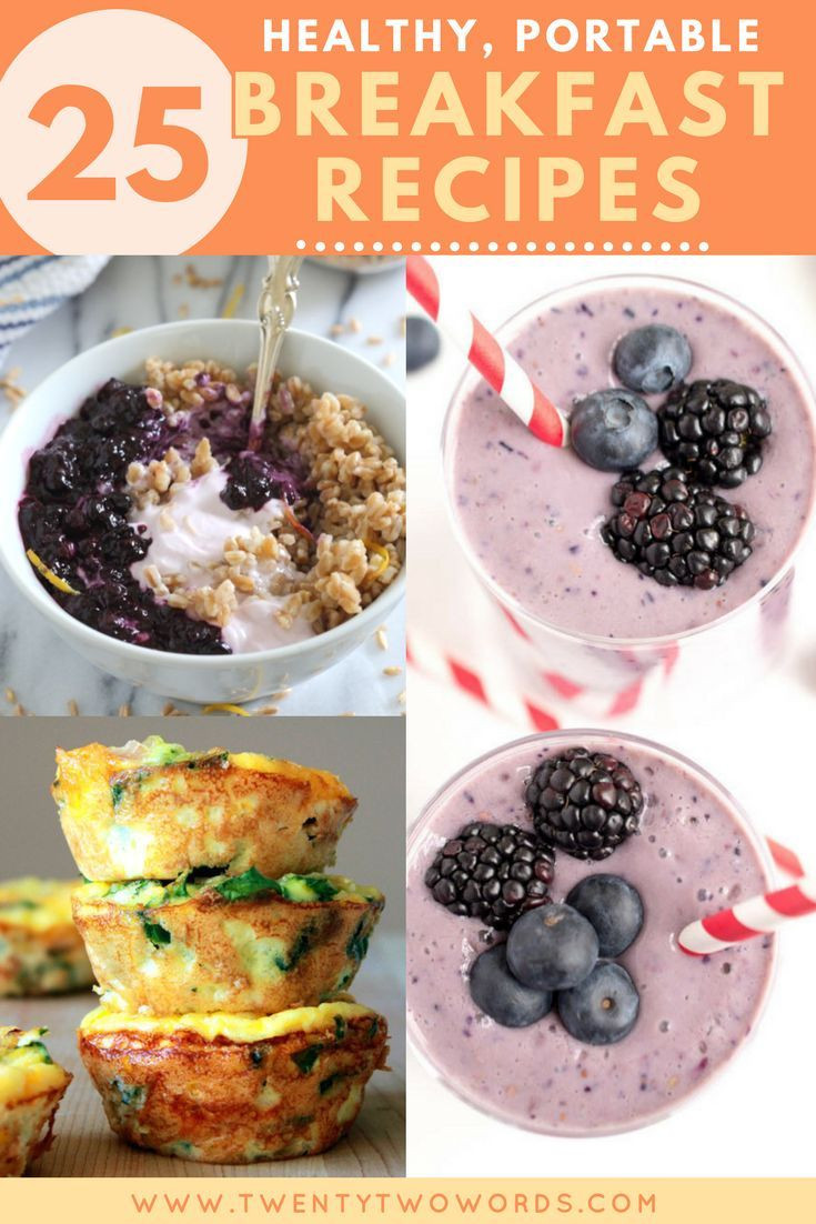Healthy Portable Breakfast  242 best 22 Words on Drinks images on Pinterest