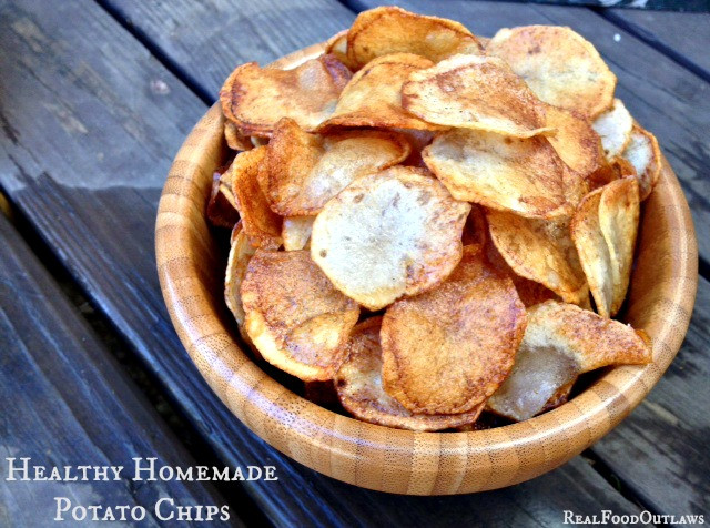 Healthy Potato Chips  Healthy Homemade Potato Chips Real Food Outlaws