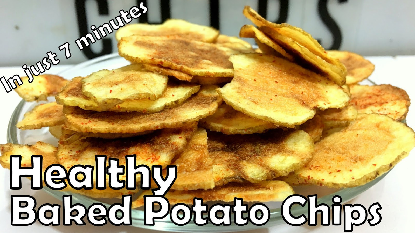 Healthy Potato Chips  Foodandfun Healthy potato chips in just 7 minutes