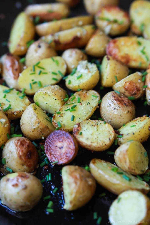 Healthy Potato Side Dishes  Easy Garlic Ranch Potatoes