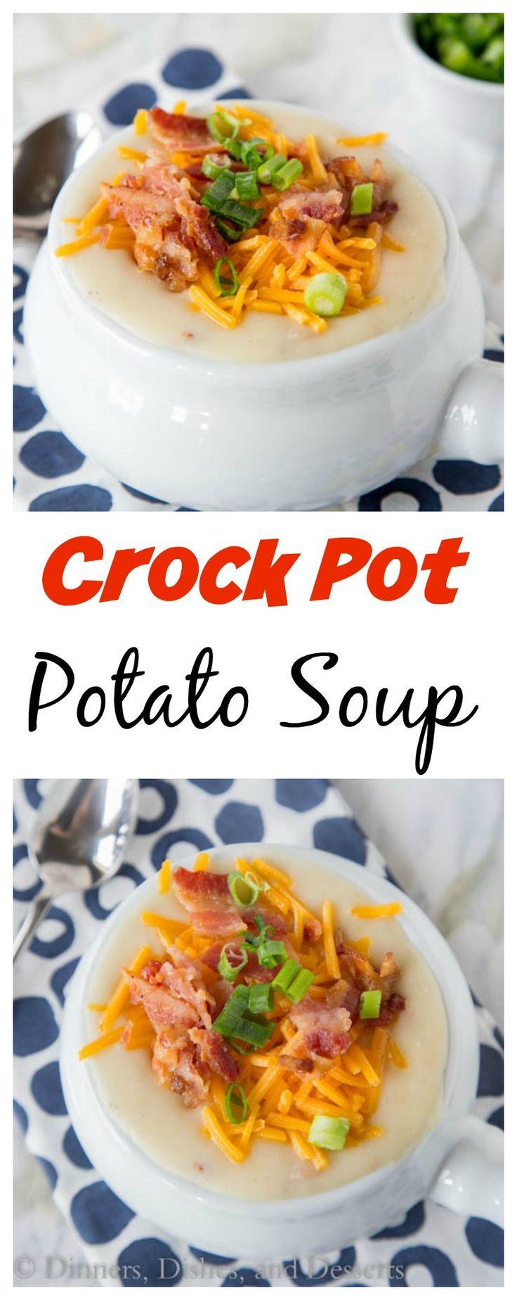 Healthy Potato Soup Crock Pot  Crock Pot Potato Soup – Creamy loaded potato soup that is