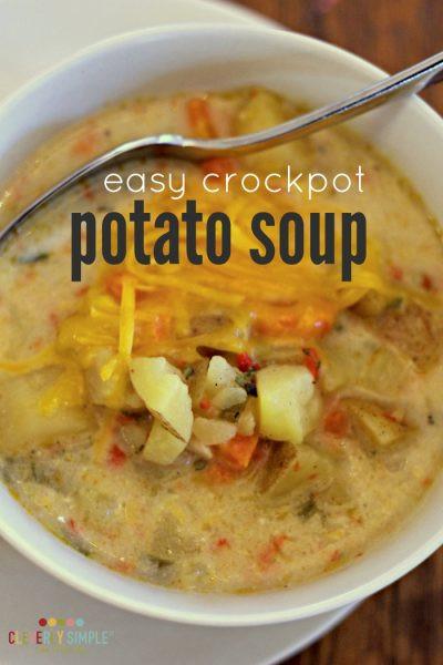 Healthy Potato Soup Crock Pot  Crockpot Pizza Cleverly Simple