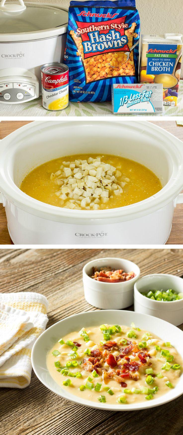 Healthy Potato Soup Crock Pot  1000 ideas about Loaded Potato Soup on Pinterest