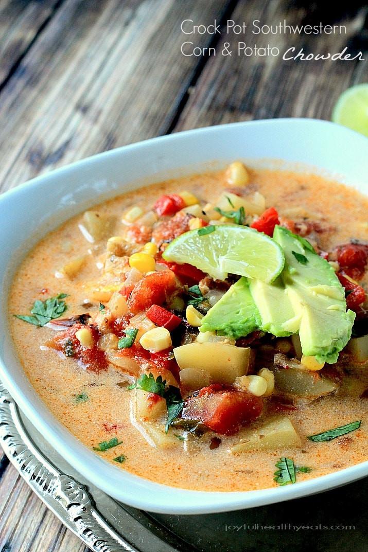 Healthy Potato Soup Crock Pot  Crock Pot Southwestern Corn & Potato Chowder Dairy Free