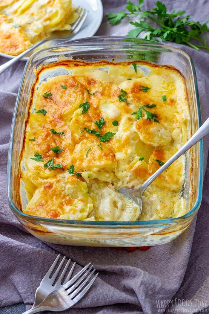 Healthy Potatoes Au Gratin  Creamy Potatoes Au Gratin Recipe Happy Foods Tube