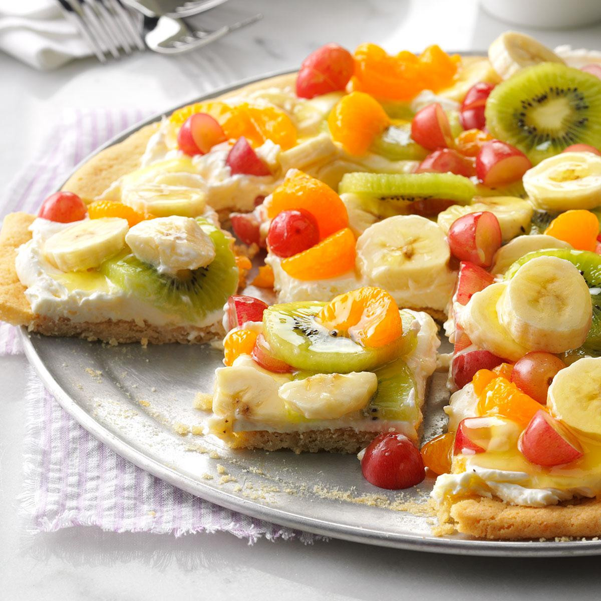 Healthy Potluck Desserts  Fruit Pizza Recipe