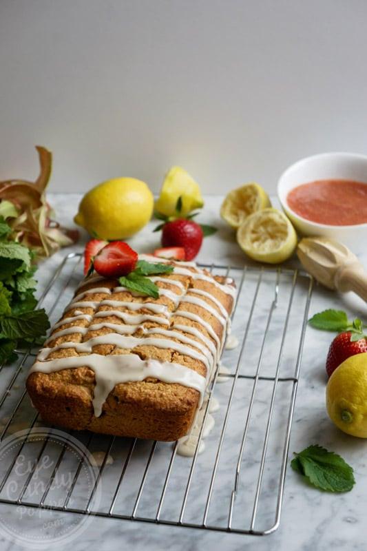 Healthy Pound Cake  Healthy lemon rhubarb pound cake