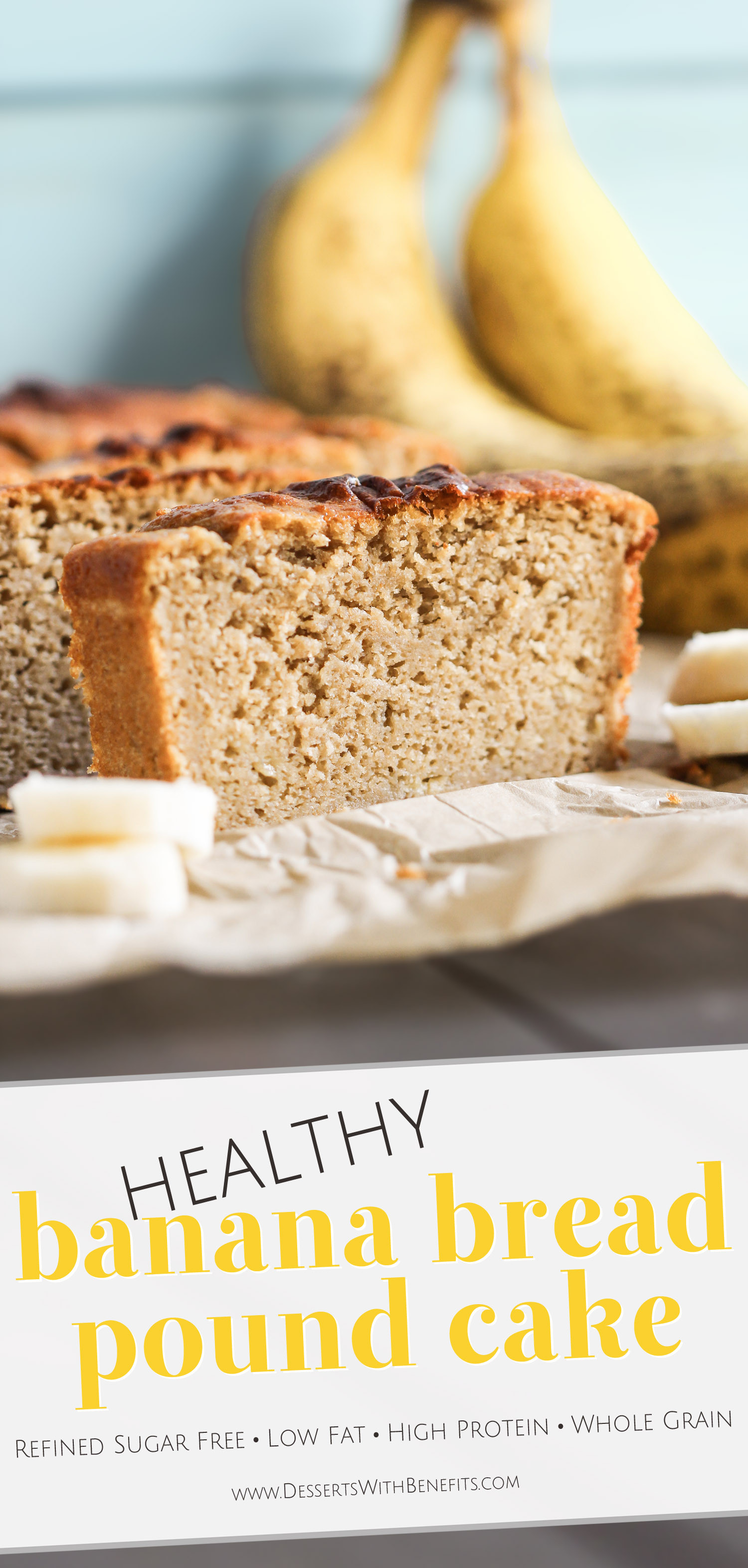 Healthy Pound Cake  Healthy Banana Bread Pound Cake Recipe