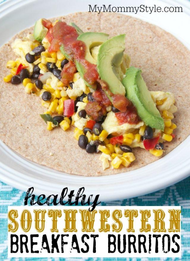 Healthy Premade Breakfast  Healthy Southwestern Breakfast burritos quick and easy
