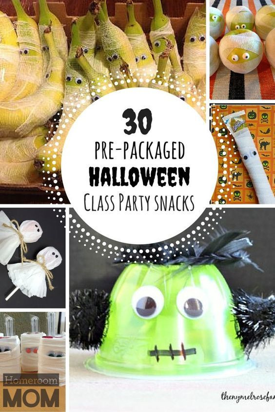 Healthy Prepackaged Snacks For Classroom  Pre Packaged Halloween Class Party Snack Ideas