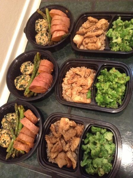Healthy Protein Dinners  Meal prep Turkey meat balls Tilapia Chicken Brown