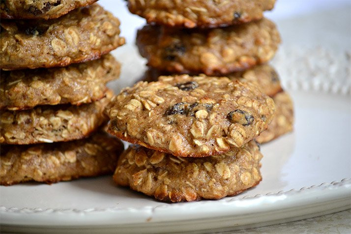 Healthy Protein Oatmeal Cookies  Jamie Eason s Protein Oatmeal Raisin Cookies