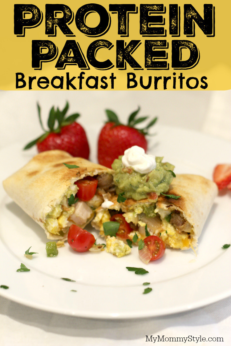 Healthy Protein Packed Breakfast  Protein Packed Breakfast Burrito My Mommy Style