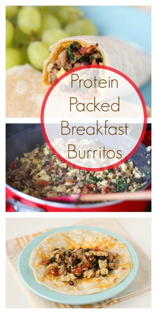 Healthy Protein Packed Breakfast  Protein Packed Breakfast Burritos