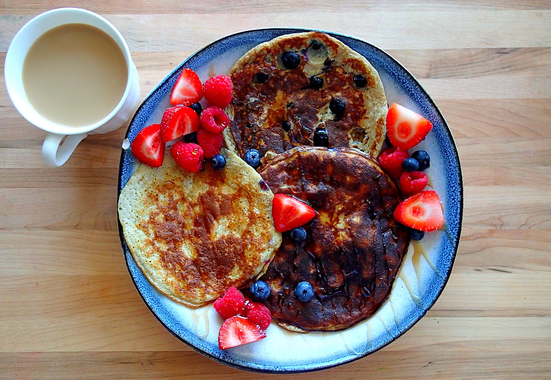 Healthy Protein Pancakes  Early Morning Healthy Protein Pancakes – Simply Taralynn