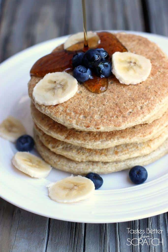 Healthy Protein Pancakes  Protein Pancakes Tastes Better From Scratch