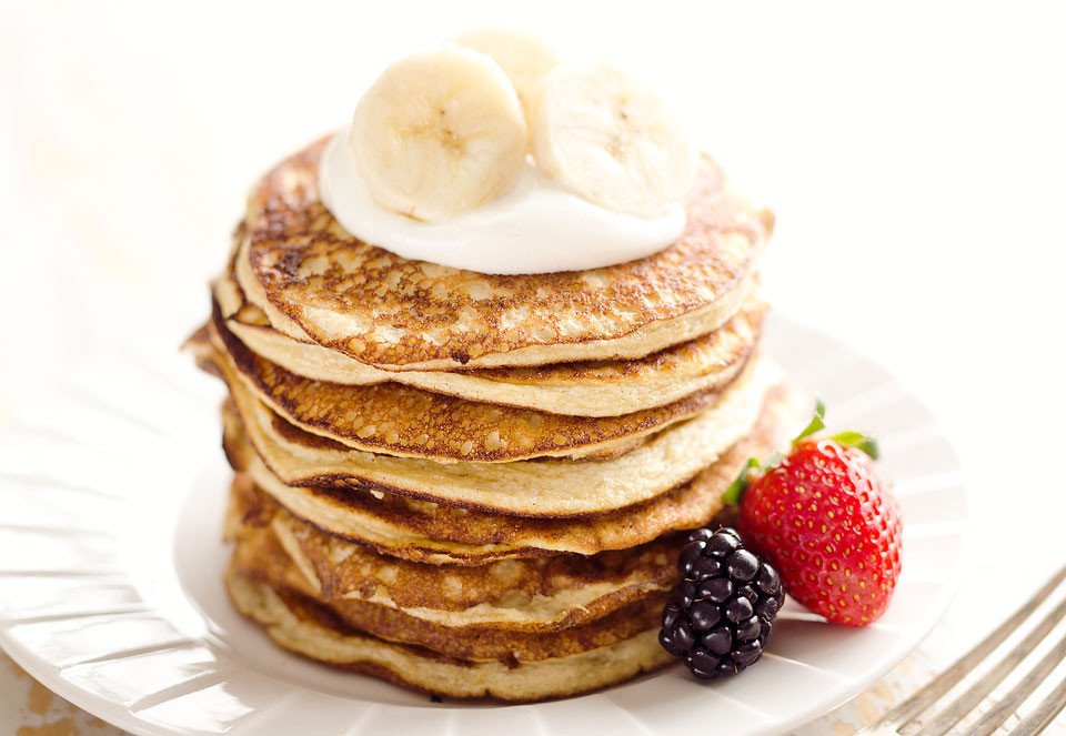 Healthy Protein Pancakes  Light & Fluffy Banana Protein Pancakes Low Carb Breakfast