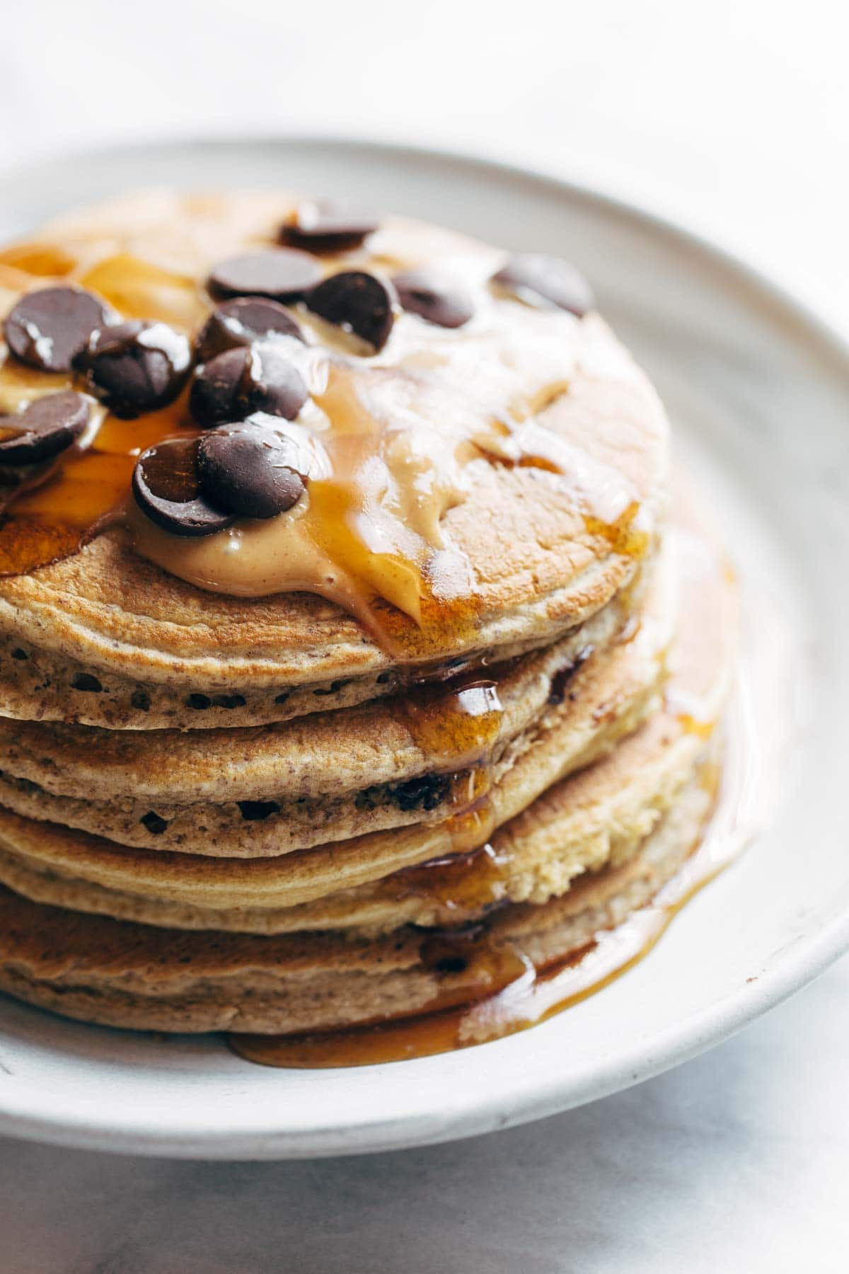 Healthy Protein Pancakes  The Best Protein Pancakes Recipe Pinch of Yum