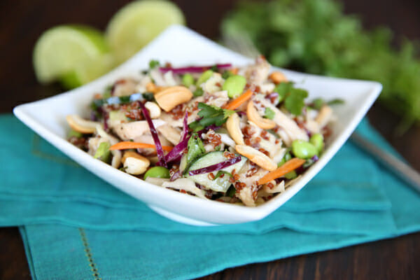 Healthy Protein Salads  Healthy Thai Chicken Salad For 1  Our Best Bites