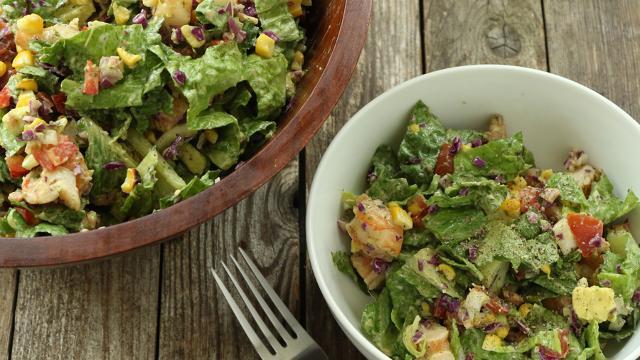 Healthy Protein Salads  Avocado & Shrimp Chopped Salad Recipe EatingWell