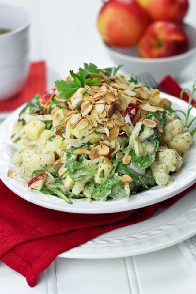 Healthy Protein Salads  Cauliflower Endive and Apple Protein Bomb Salad