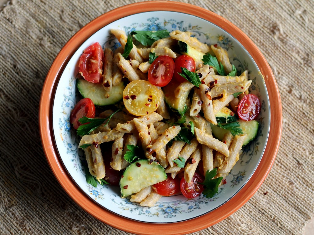 Healthy Protein Salads  Healthy Spring Veggie Pasta & an exciting update