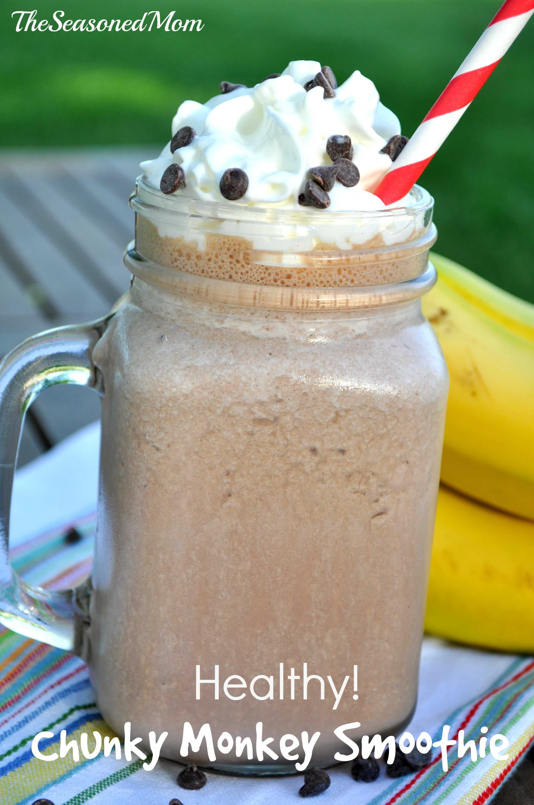 Healthy Protein Smoothies  Bananas Foster Protein Shake The Seasoned Mom