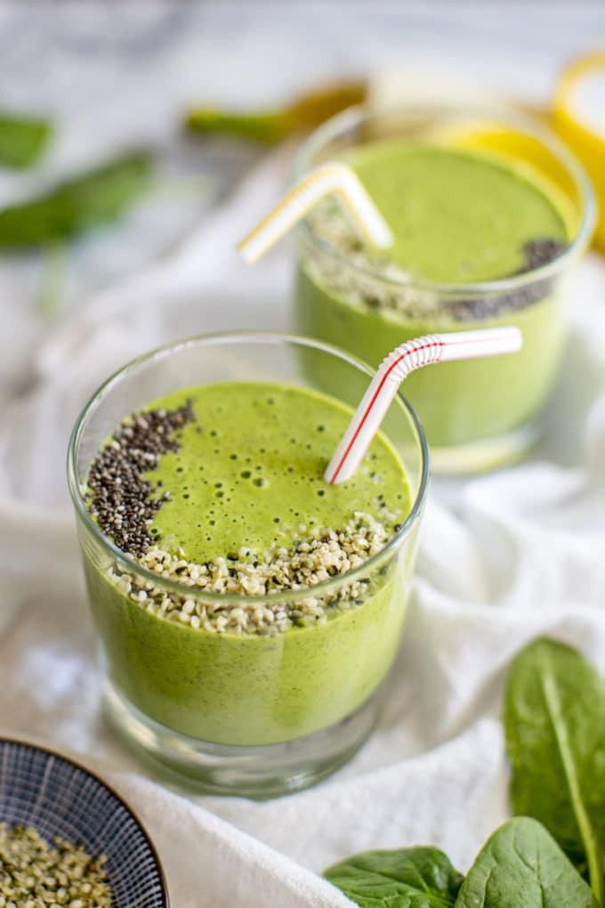 Healthy Protein Smoothies  Green Vegan Protein Smoothie Recipe