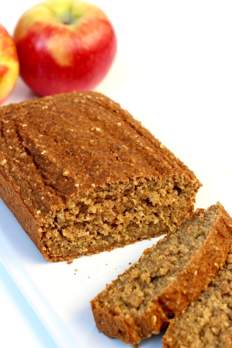 Healthy Pumpkin Apple Bread  Healthy Flourless Fresh Apple Bread TheDirtyGyro