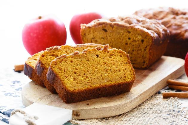 Healthy Pumpkin Apple Bread  Apple Pumpkin Bread Food Fanatic