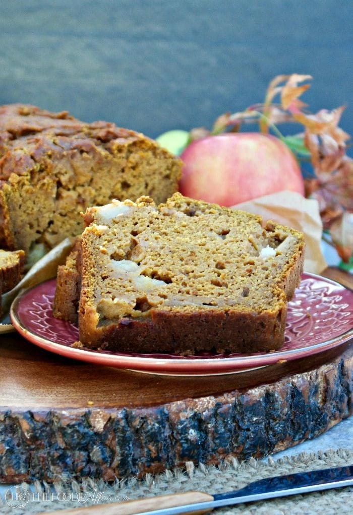 Healthy Pumpkin Apple Bread  Whole Wheat Pumpkin Apple Bread