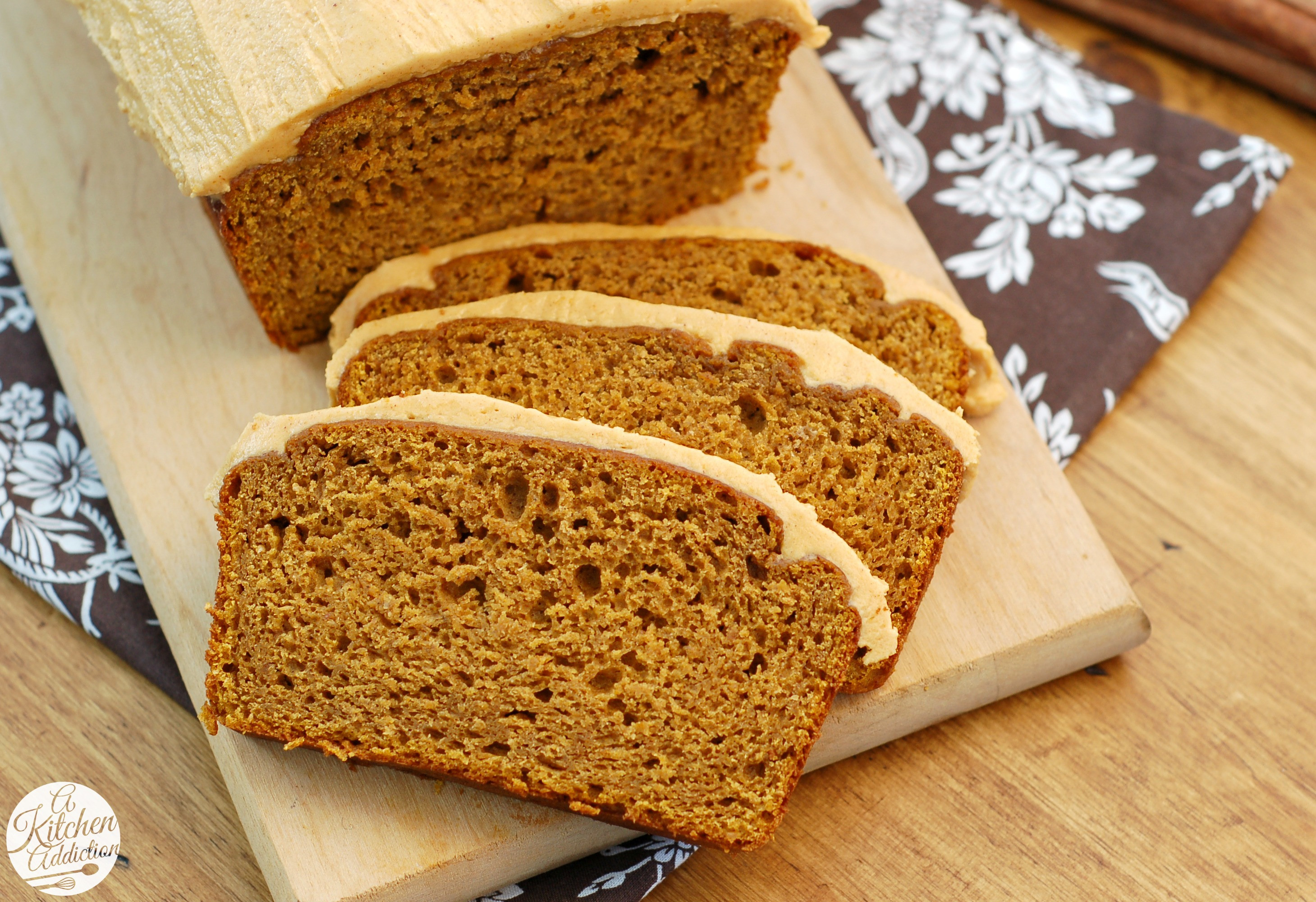 Healthy Pumpkin Bread Recipe With Canned Pumpkin  Salted Caramel Pumpkin Buttercream Frosted Pumpkin Bread
