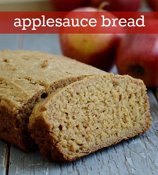 Healthy Pumpkin Bread With Applesauce  Applesauce Bread Recipe from Real Food Real Deals