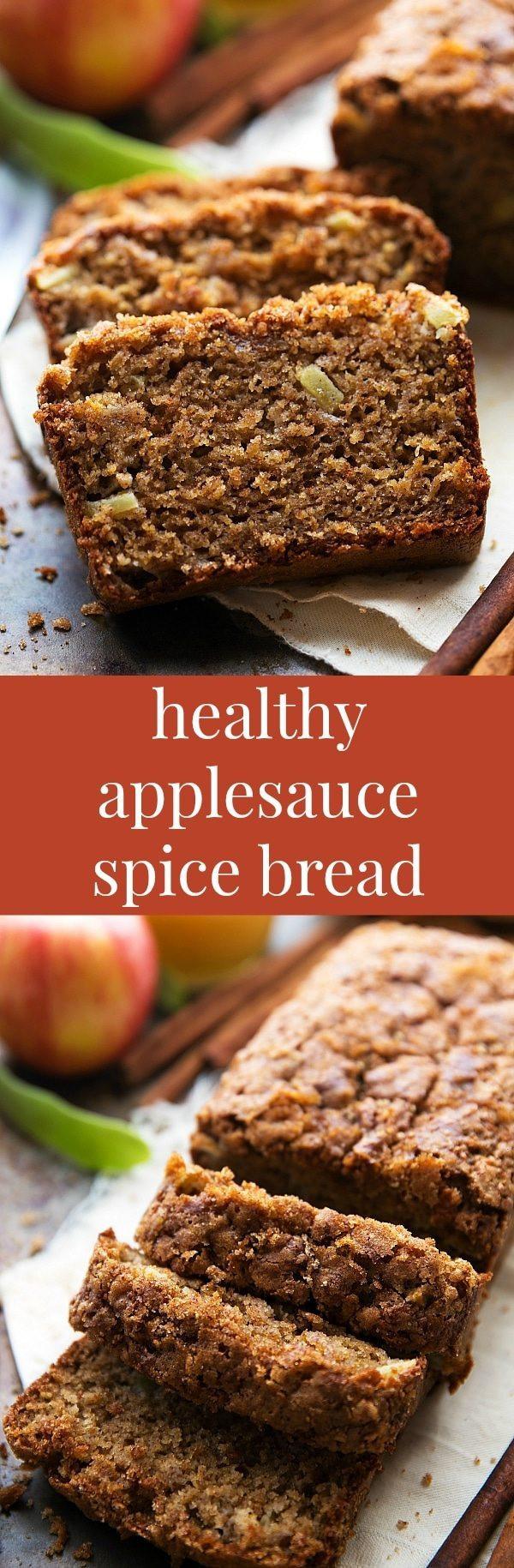 Healthy Pumpkin Bread With Applesauce  Healthier Applesauce Spice Bread Chelsea s Messy Apron