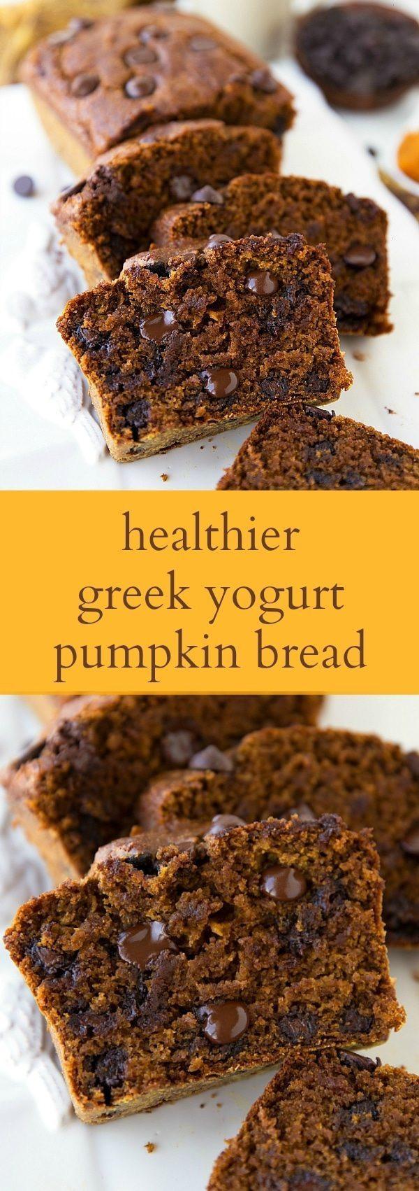 Healthy Pumpkin Bread With Yogurt  The BEST Healthy Greek Yogurt Pumpkin Bread