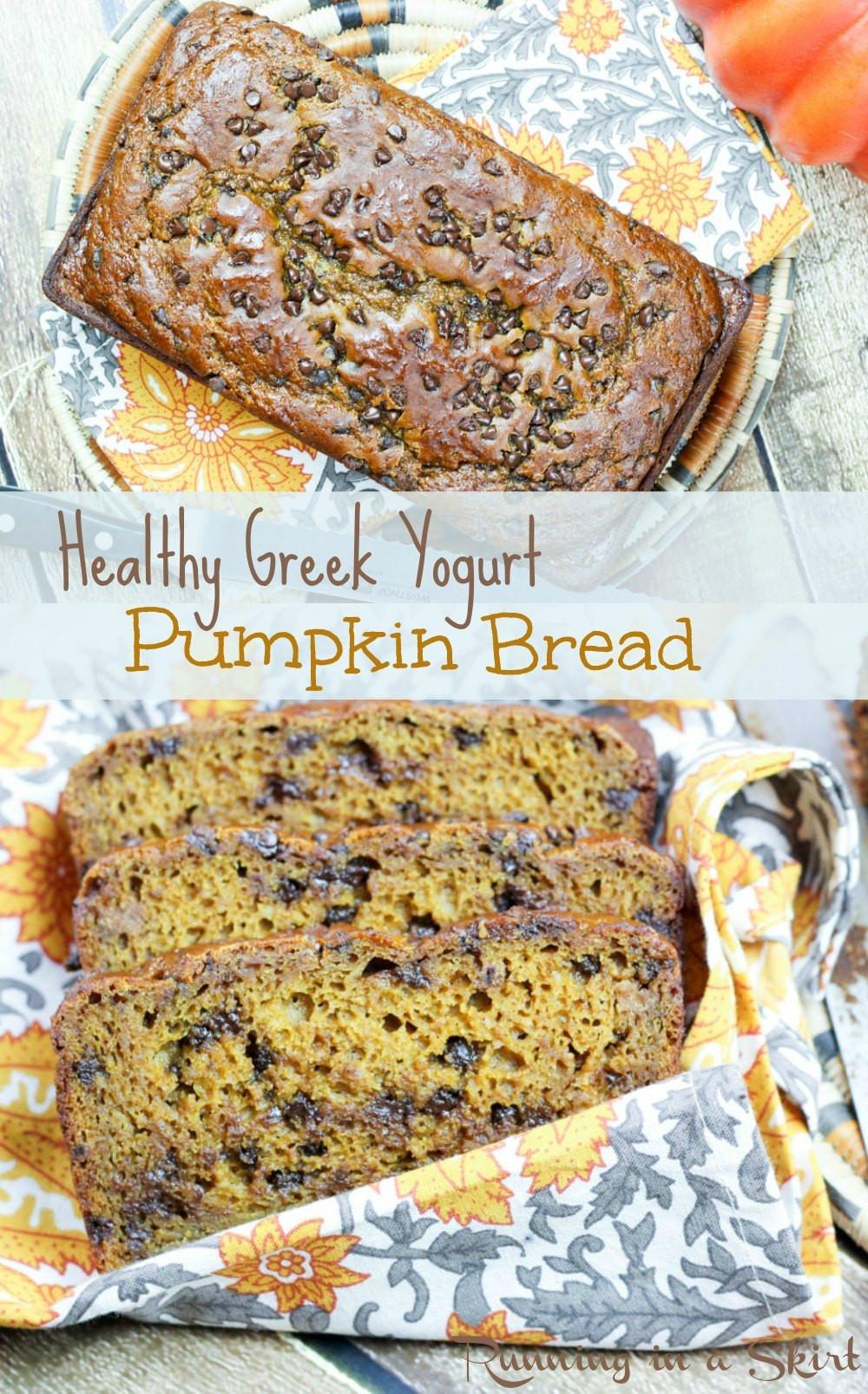 Healthy Pumpkin Bread With Yogurt  Healthy Greek Yogurt Pumpkin Bread
