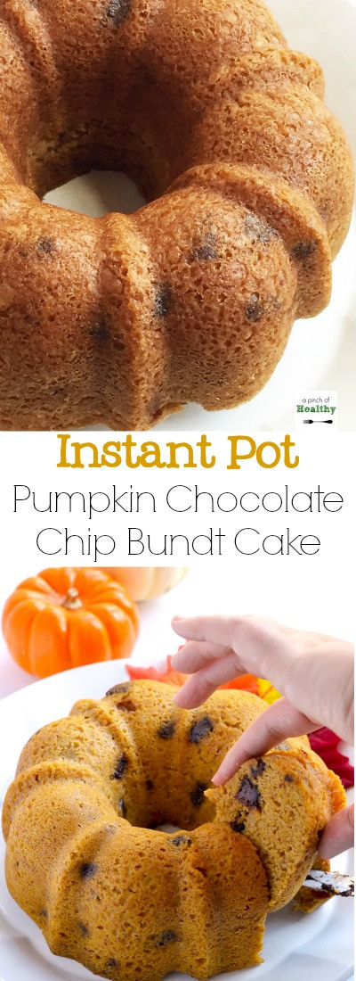 Healthy Pumpkin Bundt Cake  Pumpkin Chocolate Chip Bundt Cake Instant Pot A Pinch
