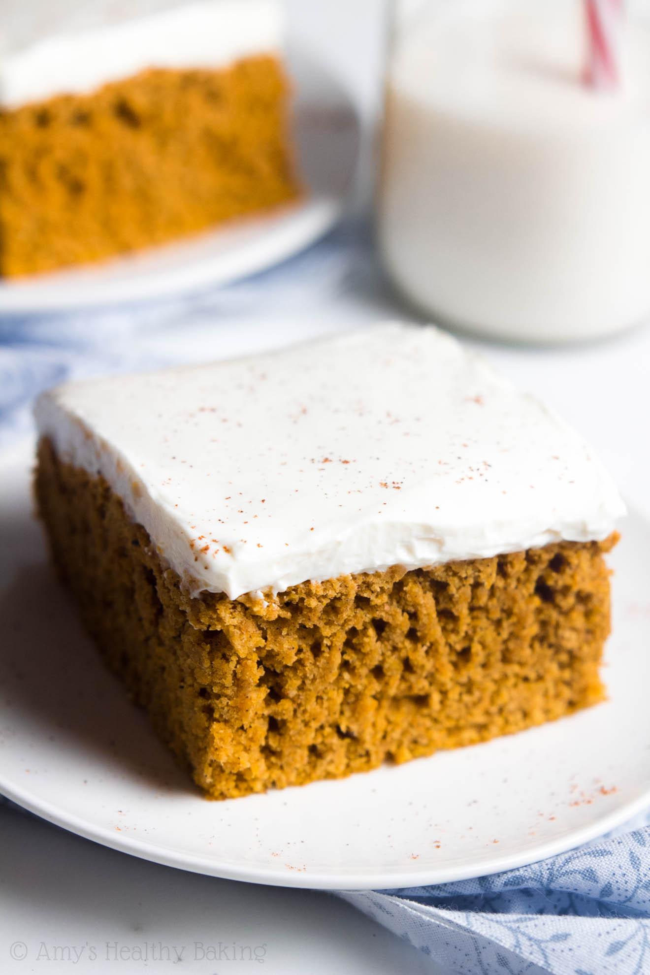 Healthy Pumpkin Cake  Skinny Pumpkin Cheesecake Bars