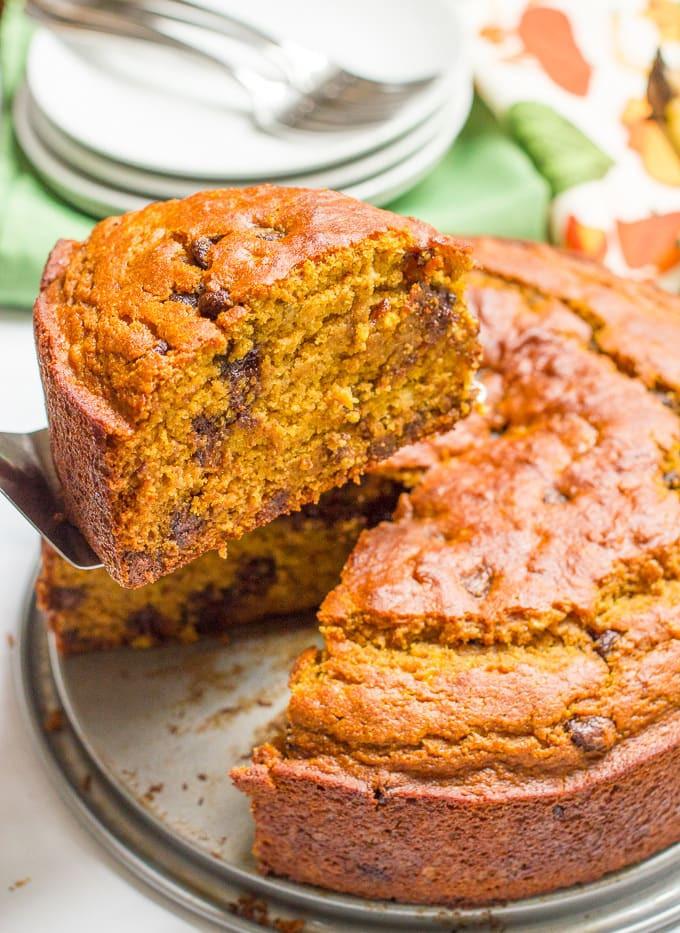 Healthy Pumpkin Chocolate Cake  Banana pumpkin chocolate chip cake Family Food on the Table