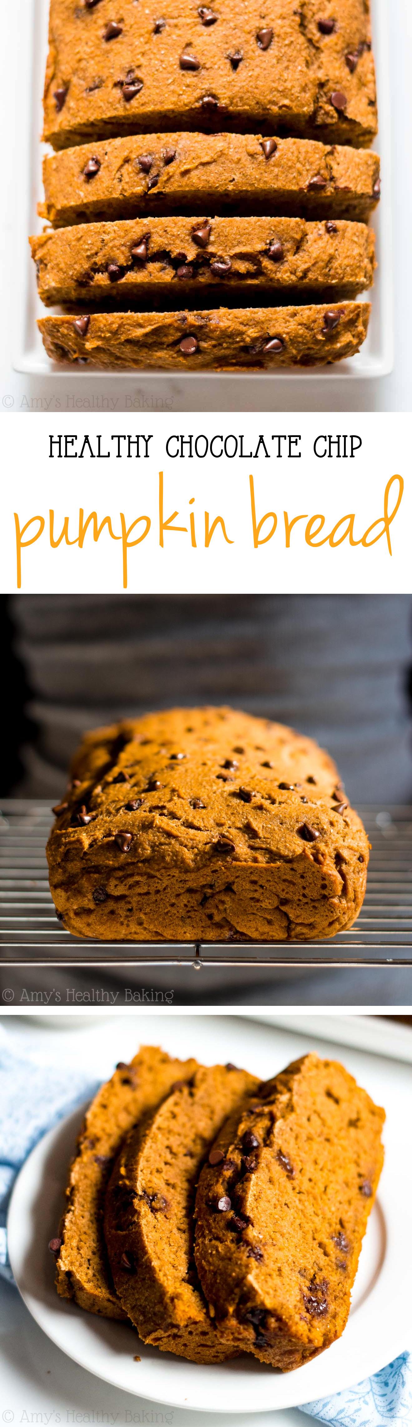 Healthy Pumpkin Chocolate Chip Bread  Chocolate Chip Pumpkin Bread